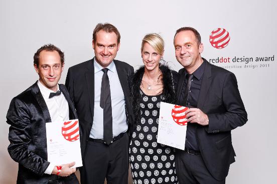 Preisverleihung des reddot award an giftGRÜN