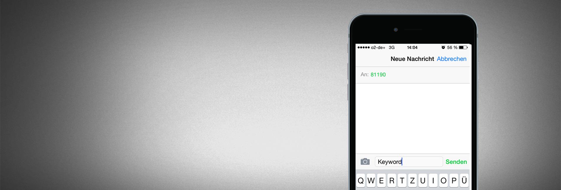 SMS-Spenden-Keyword buchen