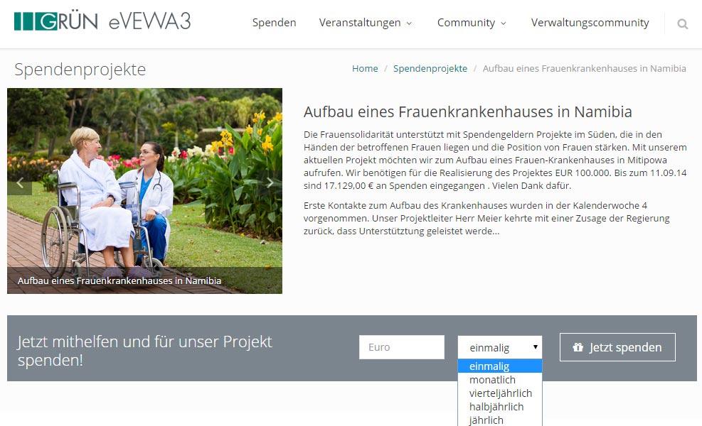 eVEWA3 für Spendenorganisationen
