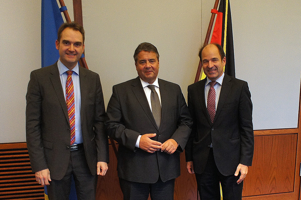 Dr. Oliver Grün (GRÜN Software AG) trifft Bundesminister Gabriel