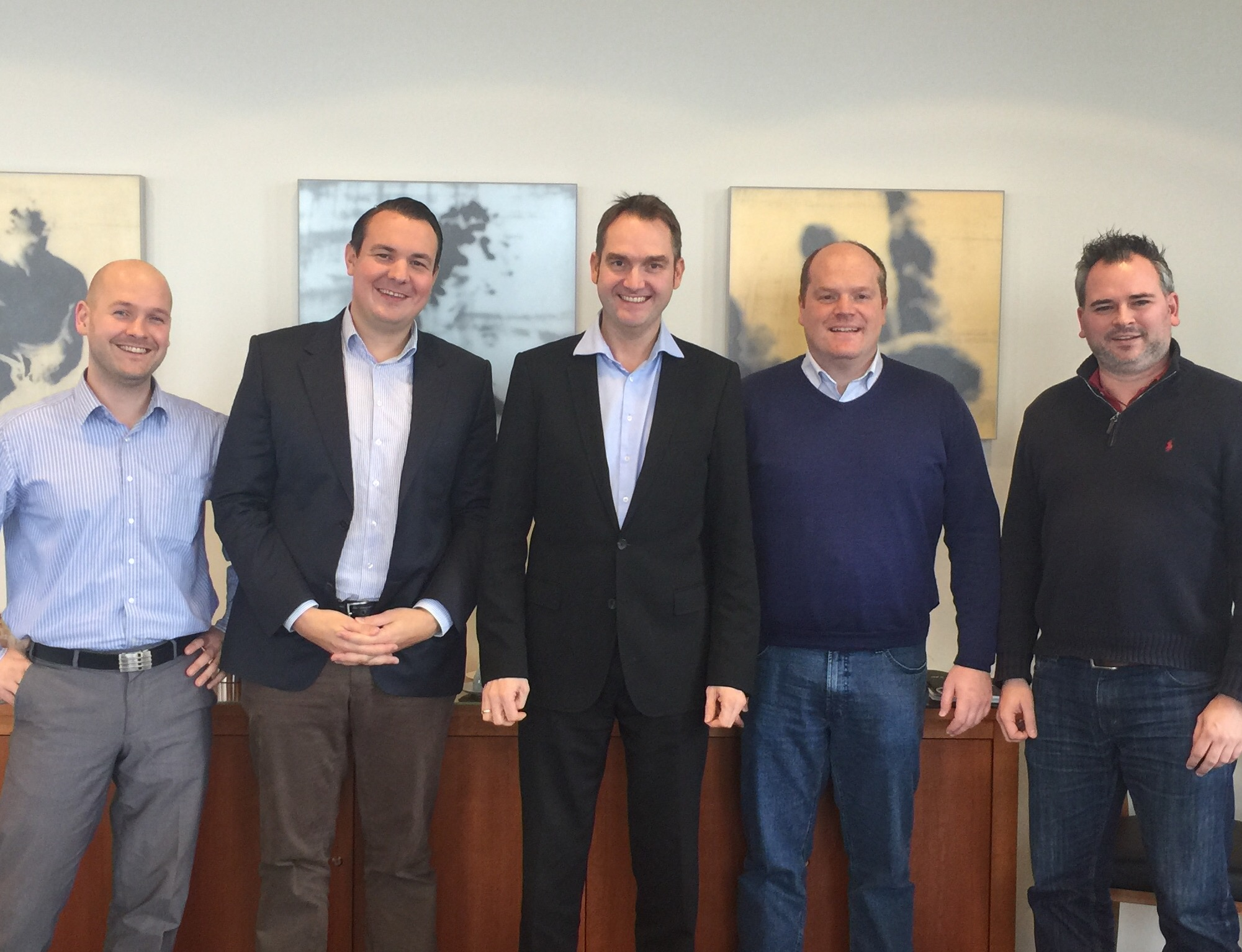vlnr: Rayk Reitenbach, ibb Beteiligungsgesellschaft, Florian Nöll, Oliver Grün, Sascha Schubert, Martin Müller