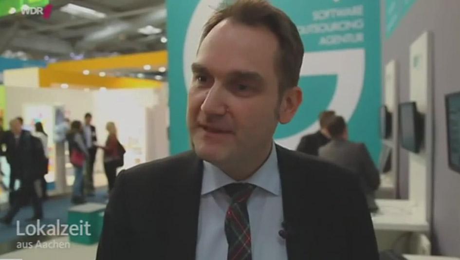 Lokalzeit Aachen: Ein Bericht über Aachener Firmen auf der CeBIT 2015 in Hannover