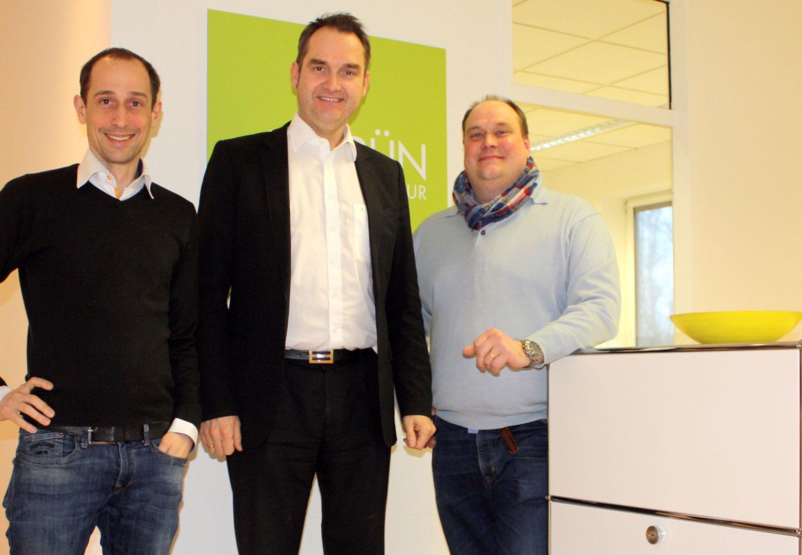 Gemeinsam stark in Aachen: Patrick Heinker, Dr. Oliver Grün und Oliver Thouet und (v.l.n.r.).