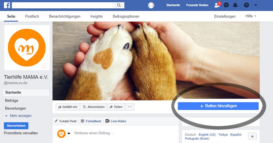 Facebook: Call-to-Action-Button hinzufügen