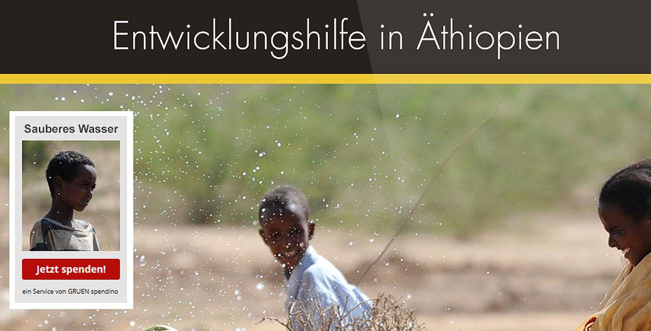 Entwicklungshilfe Äthiopien - Widget