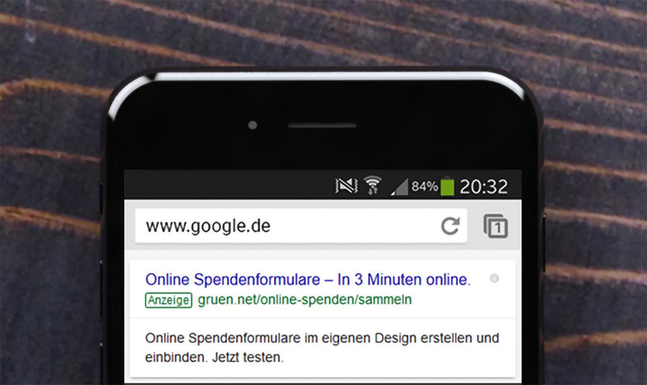Google Anzeige Beispiel