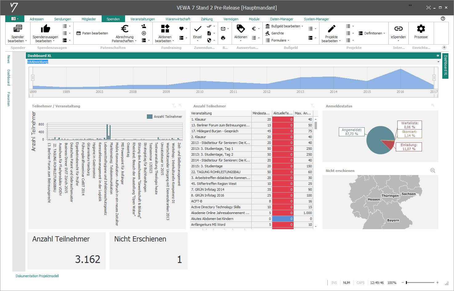 GRÜN VEWA7 - Software für Bildungsanbieter
