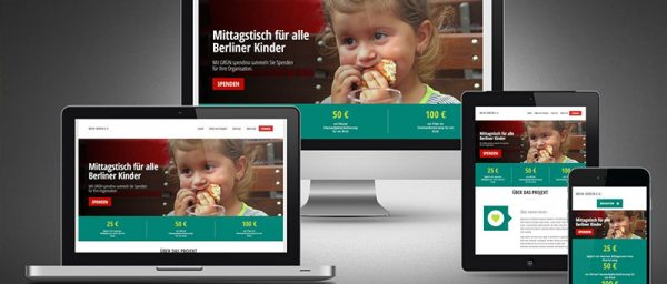 Kampagnen-Webseite - Fundraising Tipp