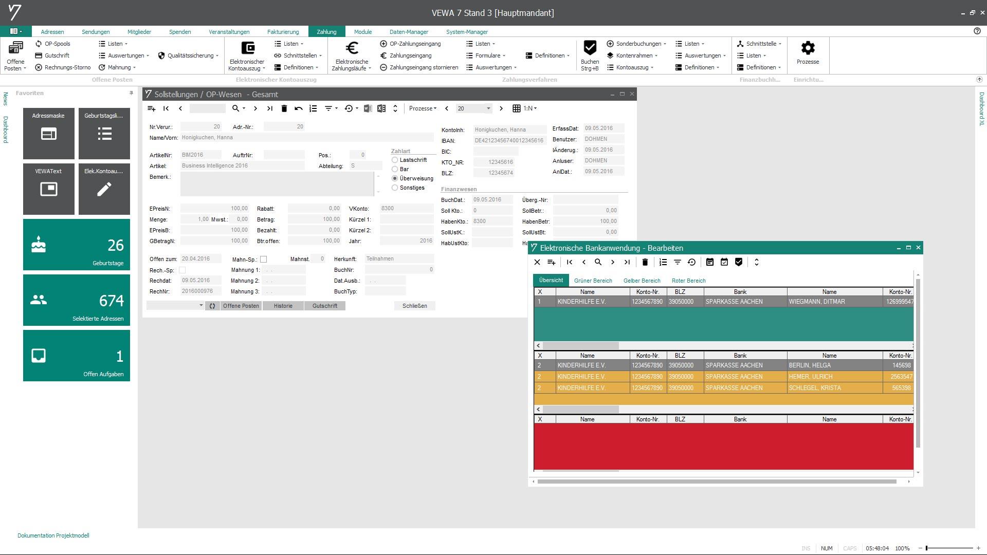 Kaufmännischen Prozesse im Veranstaltungsmanagement mit GRÜN VEWA7 lösen.