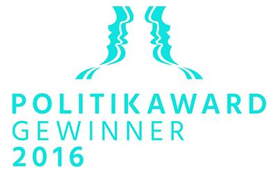 giftGRÜN wurde mit dem Politik Award 2016 ausgezeichnet.