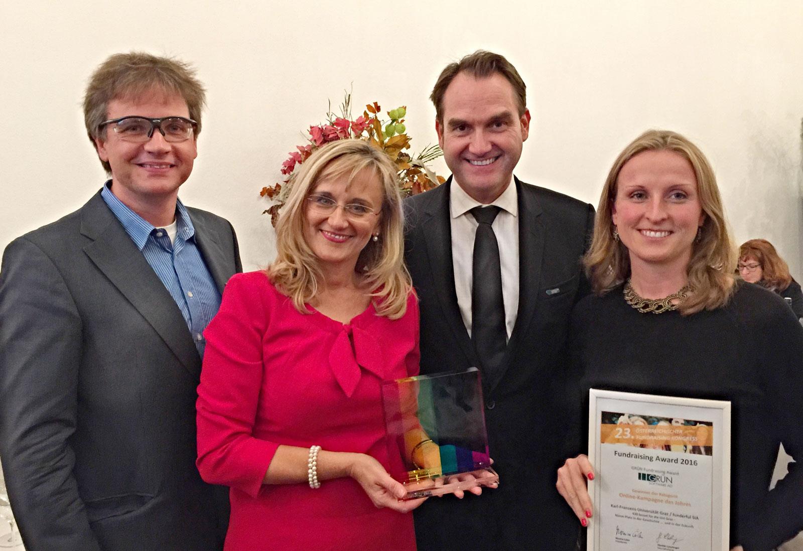 GRÜN Fundraising Award geht an die Universität Graz