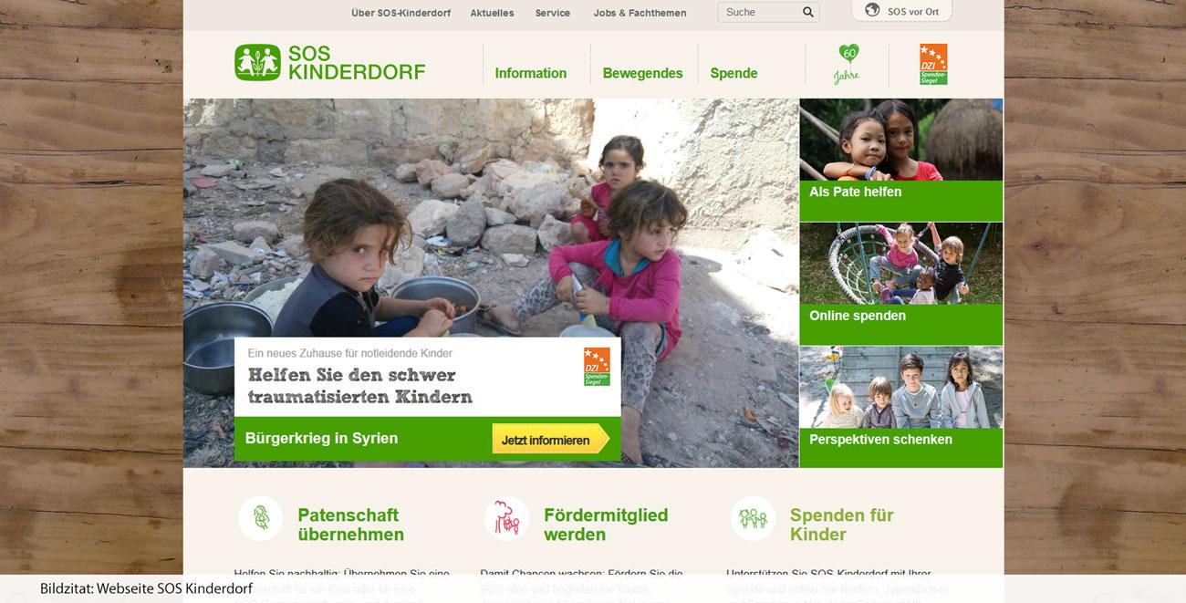 SOS Kinderdorf - Fokussierung