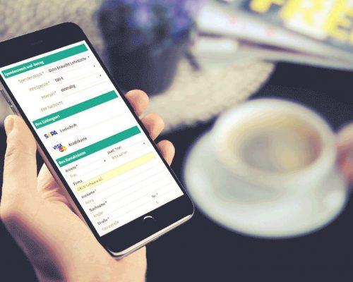 Online Spendenformulare auf dem Smartphone