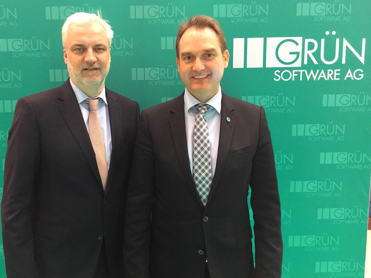 NRW Wirtschaftsminister Garrelt Duin (links) und Dr. Oliver Grün.